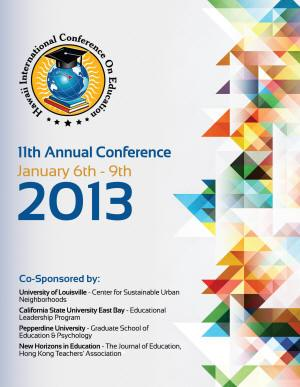 2013 Annual Conference front cover image